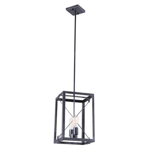 Buy 2 lights ceiling lights online at overstock our best aztec lighting industrial 2 light black pendant aloadofball Gallery