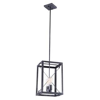Aztec Lighting Industrial 2-light Black Pendant