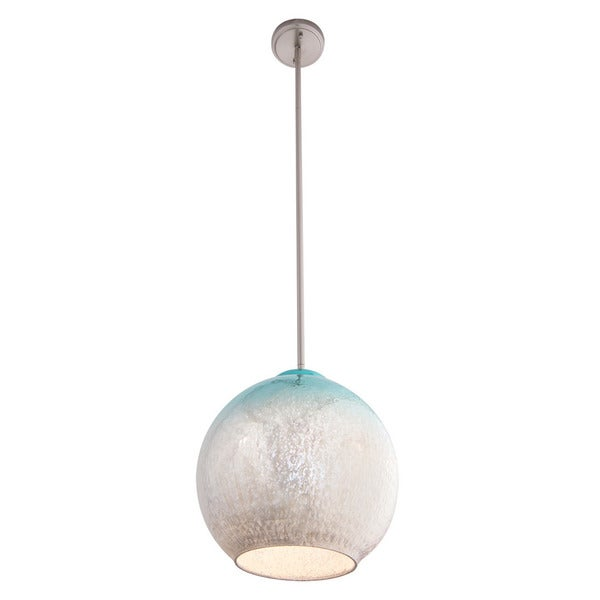 Aztec Lighting Contemporary 1-light Brushed Nickel/Mint Green Pendant