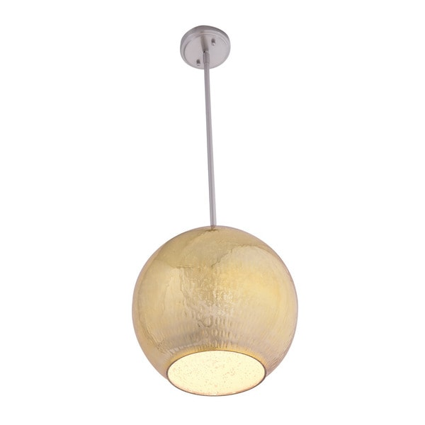 Aztec Lighting Contemporary 2-light Brushed Nickel/Gold Pendant