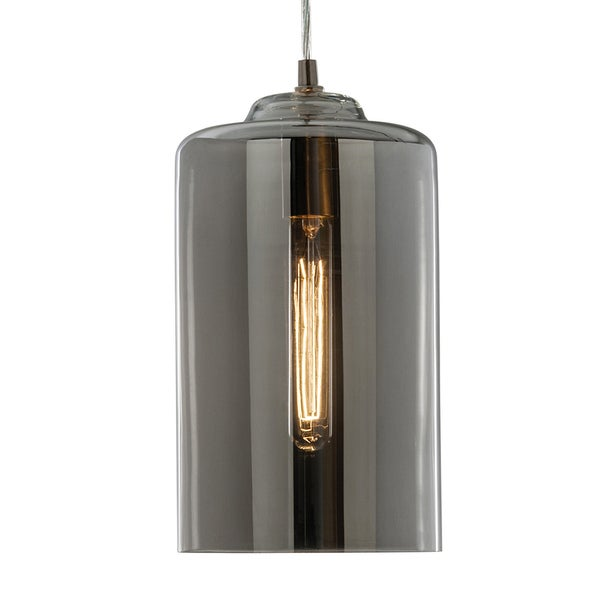 Aztec Lighting Transitional 1-light Brushed Nickel Pendant