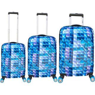 ATM Luggage 3-D Blue 3-piece Hardside Spinner Luggage Set