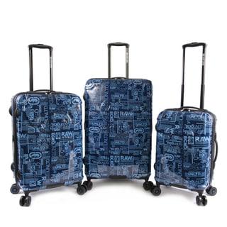 Ecko Garrison 3-piece Expandable Hardside Spinner Luggage Set