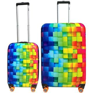 ATM Luggage 3-D Rainbow 2-piece Hardshell Spinner Luggage Set