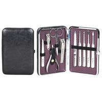 Ben Sherman Edgware 10-Piece Personal Grooming Set With Faux Leather Hinged Carrying Case