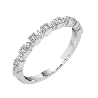 Sparkle Collection 1/15CT Diamond Iso Band in 10KT White Gold