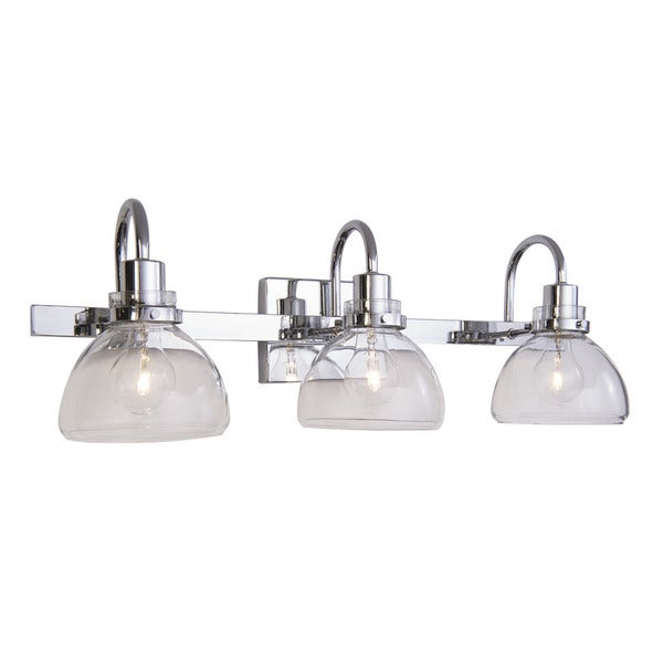Aztec Lighting Transitional 3 Light Chrome Bath/Vanity Light