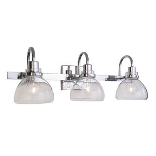Aztec Lighting Transitional 3-light Chrome Bath/Vanity Light