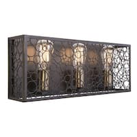 Aztec Lighting Industrial 3-light Olde Bronze Bath/Vanity light