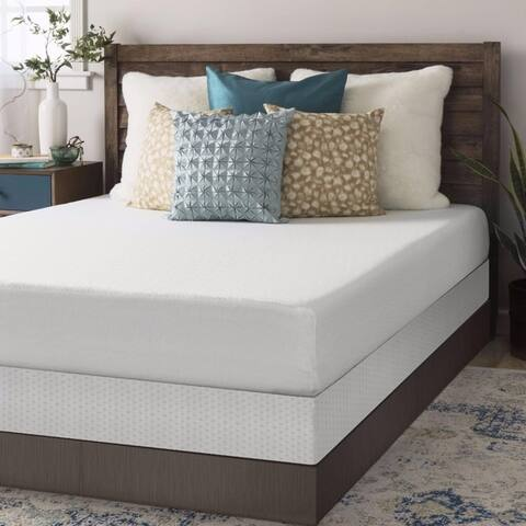 Crown Comfort 8-inch Memory Foam Mattress and Bi-fold Box Spring Set