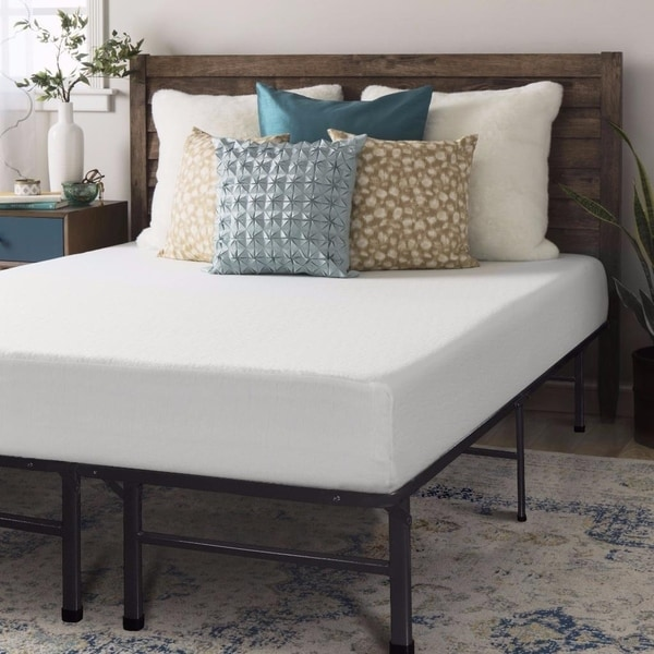 Crown Comfort 8-inch Memory Foam Mattress and Bed Frame Set