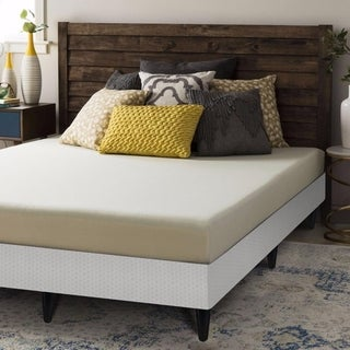Crown Comfort 6-inch Twin-size Bi-fold Box Spring and Memory Foam Mattress Set