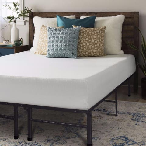 10 Inch Memory Foam Mattress and Bed Frame Set - Crown Comfort