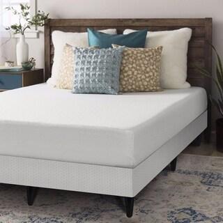 Crown Comfort 8-inch Twin-size Bi-fold Box Spring and Memory Foam Mattress Set