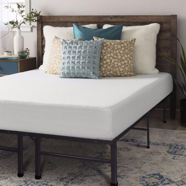 King size Memory Foam Mattress 8 inch with Bed Frame Set - Crown ...