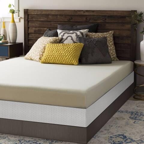 6 Inch Memory Foam Mattress and Bi-fold Box Spring Set - Crown Comfort