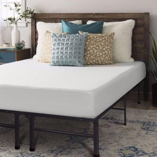 Crown Comfort 8-inch Twin-size Bed Frame and Memory Foam Mattress Set