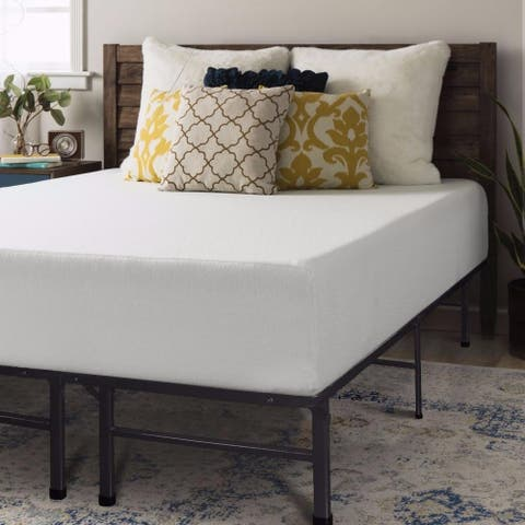 12 Inch Memory Foam Mattress and Steel Bed Frame Set - Crown Comfort