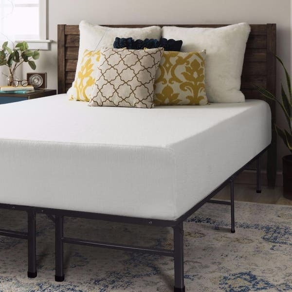 Shop 12 Inch Memory Foam Mattress And Steel Bed Frame Set Crown