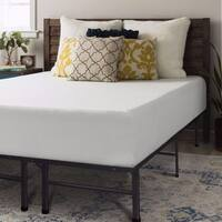 Crown Comfort 12-inch Memory Foam Mattress and Steel Bed Frame Set