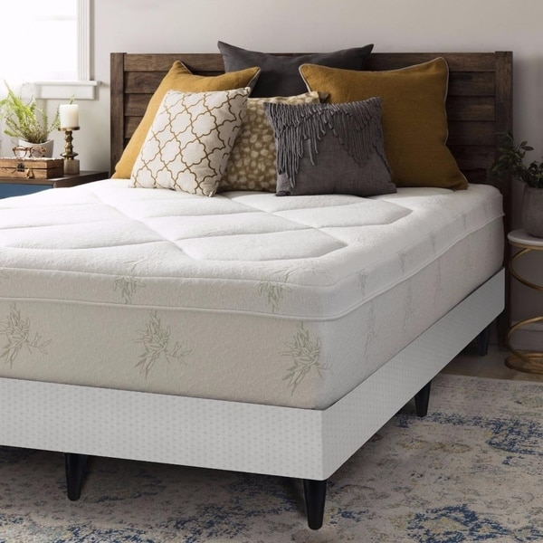 California King Size Memory Foam Mattress Grand 12 Inch with Box Spring with Legs Set - Crown Comfort