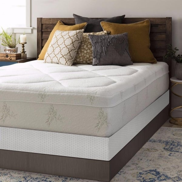 California King Size Memory Foam Mattress Grand 12 Inch with Bi-fold Box Spring Set - Crown Comfort