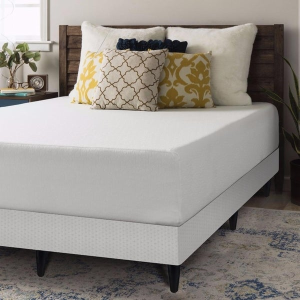 Shop 12 Inch Memory Foam Mattress And Box Spring With Legs
