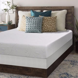 Full size Air Flow Memory Foam Mattress 8 inch with Bi-fold Box Spring Set - Crown Comfort