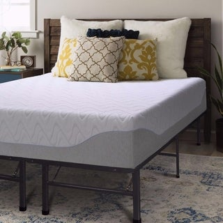 Crown Comfort Gel 11-inch Twin-size Bed Frame and Memory Foam Mattress Set