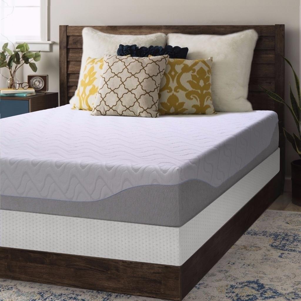 crown comfort gel 9 inch full size box spring and memory foam mattress set ebay. Black Bedroom Furniture Sets. Home Design Ideas