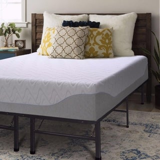 11 Inch Gel Memory Foam Mattress and Bed Frame Set - Crown Comfort