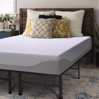 9 Inch Gel Memory Foam Mattress and Steel Bed Frame Set - Crown Comfort
