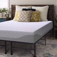 Crown Comfort 9-inch Gel Memory Foam Mattress and Steel Bed Frame Set