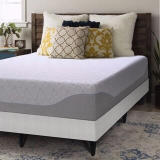 Crown Comfort Gel 11-inch Twin-size Bi-fold Box Spring and Memory Foam Mattress Set