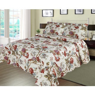 Patch Magic Finch Orchard 3-Piece Twin Size Quilt Set
