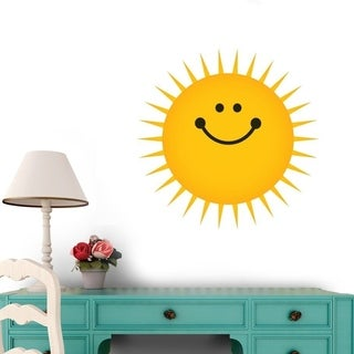 "Sun - 12""H x 12""W - Peel and Stick Wall Decal Wall Vinyl"