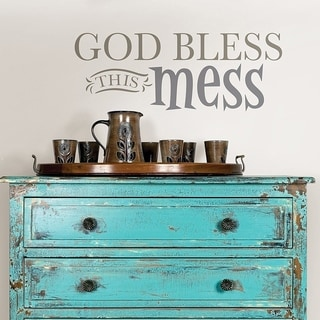 Wall Pops God Bless this Mess Wall Quote Wall Vinyl