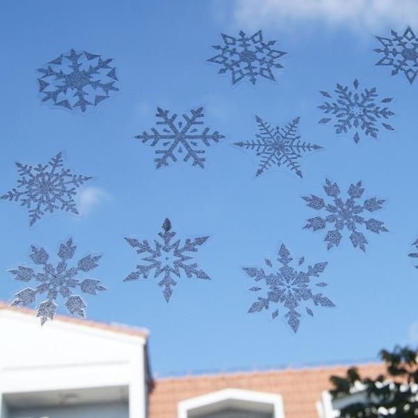 Shop Snowflake Window Stickers Glitter Christmas