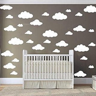 31 pcs Mix Size 4-10 inch Clouds Wall Decal Sticker For Kids Bedroom Decor Wall Vinyl