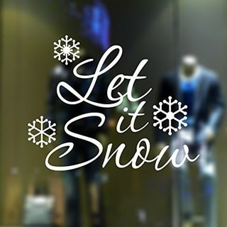 Merry Christmas- Let It Snow Aesthetic Removable Vinyl Wall Sticker Wall Decal Wall Vinyl