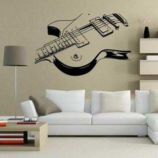 "Guitar Music Wall Art Decal Decor Vinyl Dance Musical Mural Sticker 36"" Wall Vinyl"