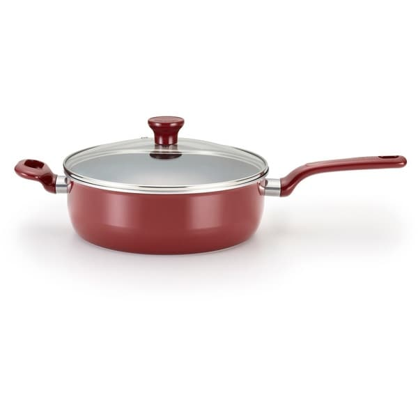 T-Fal Excite Non-Stick Deep Sauce Pan, Cherry