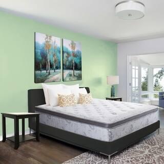 Sleeplanner 12 inch Queen Size Hybrid Memory Foam Innerspring Mattress. Bedroom Furniture For Less   Overstock com