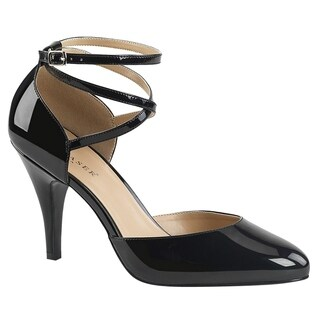 PLEASER PINK LABEL DREAM-408 Women D'orsay Criss Cross Stiletto Heel Dress Pumps