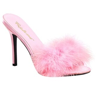 Fabulicious CLASSIQUE-01F Women's Stiletto Heel Slipper Slide Sandals