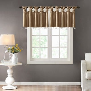Superb Madison Park Natalie Twisted Tab Valance With Beads In Spice (As Is Item)