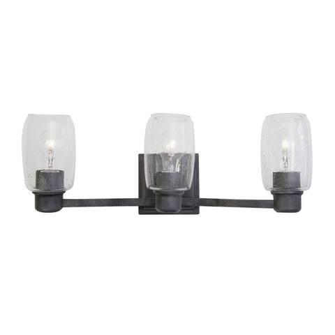 Buy black wall lights online at overstock our best lighting deals aztec lighting transitional 3 light weathered zinc bathvanity light aloadofball Choice Image