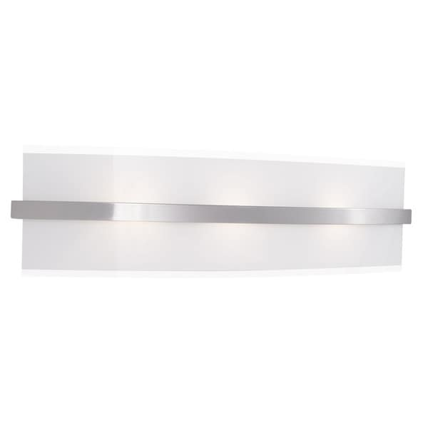 Shop Aztec Lighting Contemporary 3 Light Brushed Nickel Halogen Bath