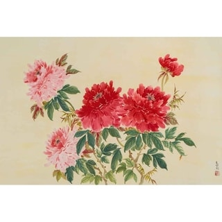"""""""Two Colored Peonies"""" by Jamaliah Morais, Canvas Giclee Wall Art"""