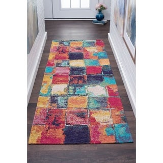 Alise Rugs Drayton Multicolored Abstract Runner Rug (2'7 x 7'3)